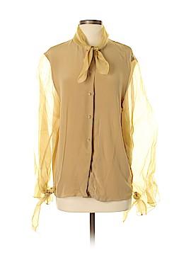 Talbots Long Sleeve Silk Top Size 4
