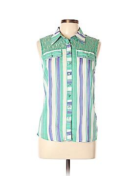 Love Tree Sleeveless Button-Down Shirt Size L