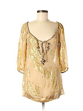 Hale Bob 3/4 Sleeve Silk Top Size XS