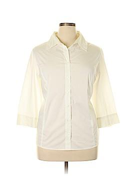 Fashion Bug Long Sleeve Button-Down Shirt Size 18 - 20 Plus (Plus)