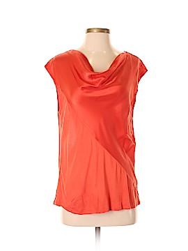 Trouve Short Sleeve Silk Top Size S