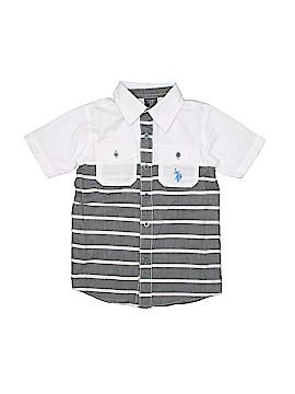 U.S. Polo Assn. Short Sleeve Button-Down Shirt Size 3T