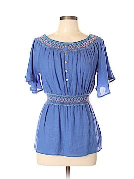 Double Zero Short Sleeve Blouse Size L