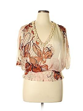 Karen Kane 3/4 Sleeve Silk Top Size L