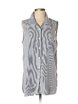 BeachLunchLounge Sleeveless Button-Down Shirt Size M