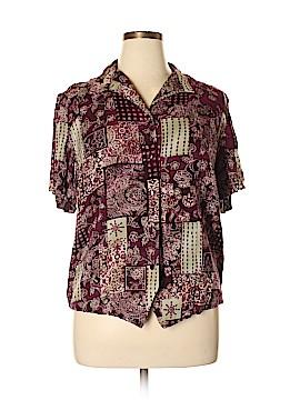 Kathie Lee Short Sleeve Button-Down Shirt Size 14/16