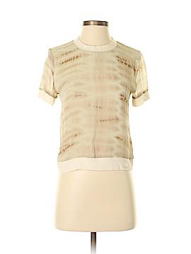 Maggie Ward Short Sleeve Silk Top Size S