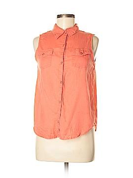 Arizona Jean Company Sleeveless Button-Down Shirt Size M
