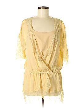 Foley + Corinna Short Sleeve Silk Top Size M