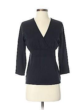 Ann Taylor Factory Long Sleeve Silk Top Size S