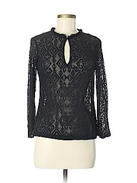 Nanette Lepore Long Sleeve Silk Top Size M
