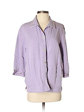 Koret 3/4 Sleeve Button-Down Shirt Size M