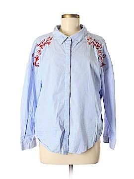Velvet Heart 3/4 Sleeve Button-Down Shirt Size M