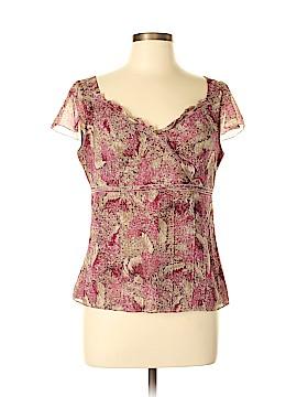 Ann Taylor Short Sleeve Silk Top Size 8