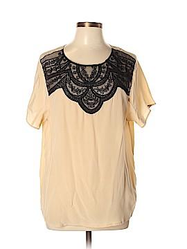 Lie Short Sleeve Silk Top Size L