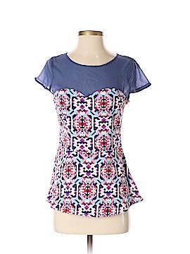 Francesca's Short Sleeve Blouse Size S
