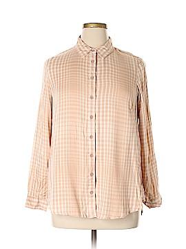 Seven7 Long Sleeve Button-Down Shirt Size 0X (Plus)