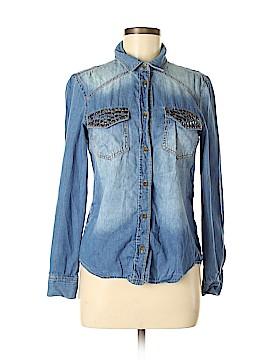 Mudd Long Sleeve Button-Down Shirt Size M