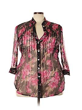 Faith 21 3/4 Sleeve Blouse Size 2X (Plus)