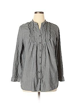 A.n.a. A New Approach Long Sleeve Button-Down Shirt Size 1X (Plus)
