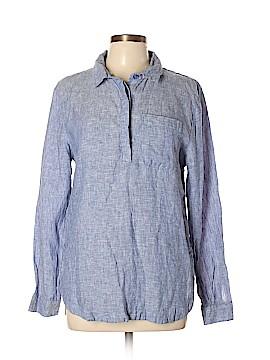 Garnet Hill Long Sleeve Button-Down Shirt Size 12
