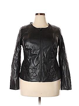 Alfani Leather Jacket Size 0X (Plus)