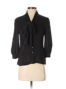 Tory Burch 3/4 Sleeve Silk Top Size 0