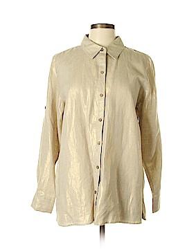 Kate Hill Long Sleeve Button-Down Shirt Size L