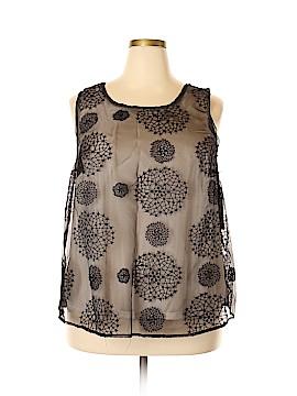 Simply Vera Vera Wang Sleeveless Blouse Size 1X (Plus)