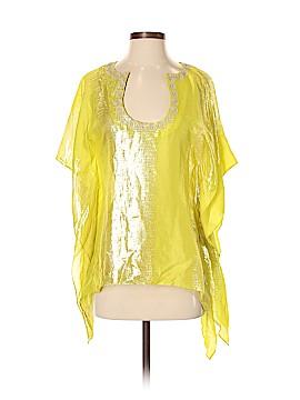 Trina Turk Short Sleeve Silk Top Size S
