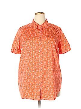 Roaman's Short Sleeve Button-Down Shirt Size 22W (Plus)