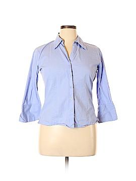 Harve Benard by Benard Holtzman 3/4 Sleeve Button-Down Shirt Size XL