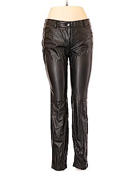 ABS Platinum Faux Leather Pants Size 6