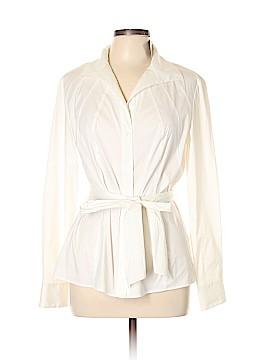 Lafayette 148 New York Long Sleeve Button-Down Shirt Size 12