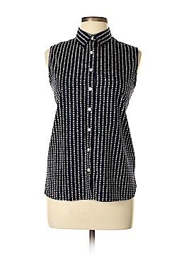 Lands' End Sleeveless Button-Down Shirt Size 12 (Petite)