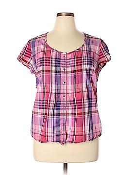 G.H. Bass & Co. Short Sleeve Button-Down Shirt Size XL