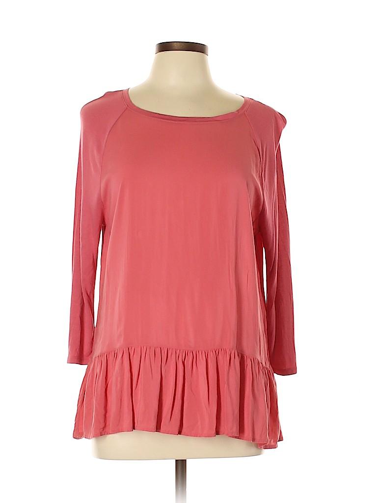 Ann Taylor LOFT Women 3/4 Sleeve Blouse Size L