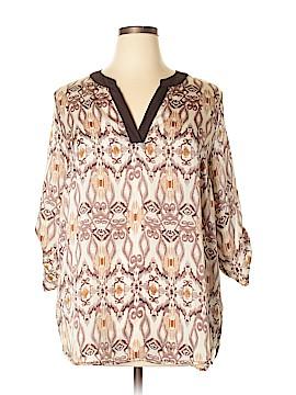 Janette Plus 3/4 Sleeve Blouse Size 1X (Plus)