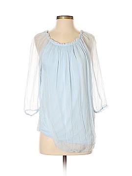 Prontomoda Giusy 3/4 Sleeve Silk Top Size S