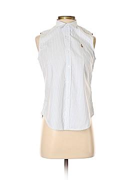 Ralph Lauren Sleeveless Button-Down Shirt Size 4