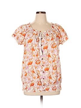 Style&Co Short Sleeve Blouse Size 16