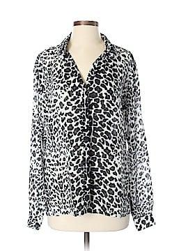 Maje Long Sleeve Button-Down Shirt Size Sm (1)