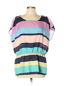 Black Rainn Short Sleeve Blouse Size XL