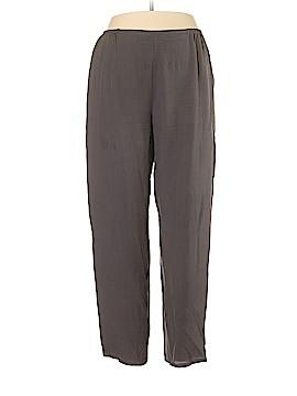 Citron Silk Pants Size XL