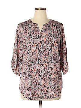 Croft & Barrow 3/4 Sleeve Blouse Size XL
