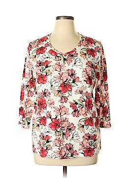 Karen Scott Sport 3/4 Sleeve T-Shirt Size 1X (Plus)