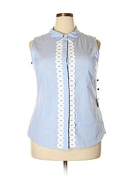 Tommy Hilfiger Sleeveless Button-Down Shirt Size XL
