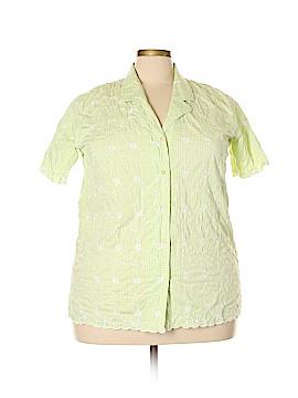Denim Co Short Sleeve Button-Down Shirt Size XL