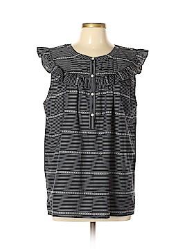 Ann Taylor LOFT Short Sleeve Button-Down Shirt Size L