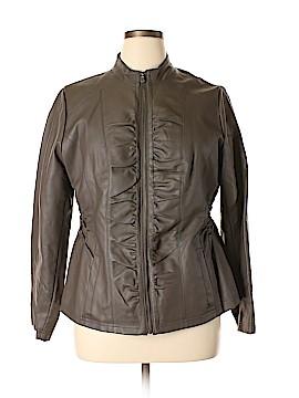 Avenue Faux Leather Jacket Size 14 - 16 Plus (Plus)